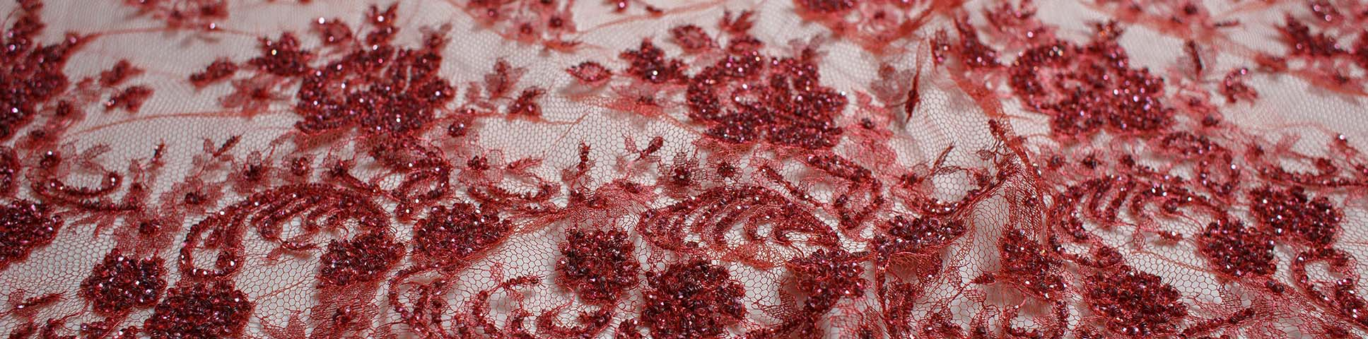 Embroidered Chantilly lace