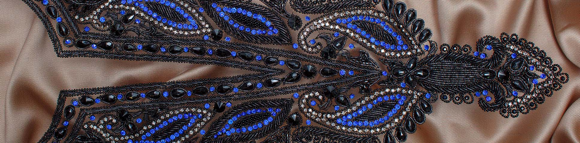 Blue decorative embellishment